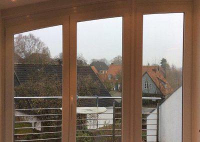 Tischlerei Brümmer - bodentiefe Fenster mit Bogen und Tür
