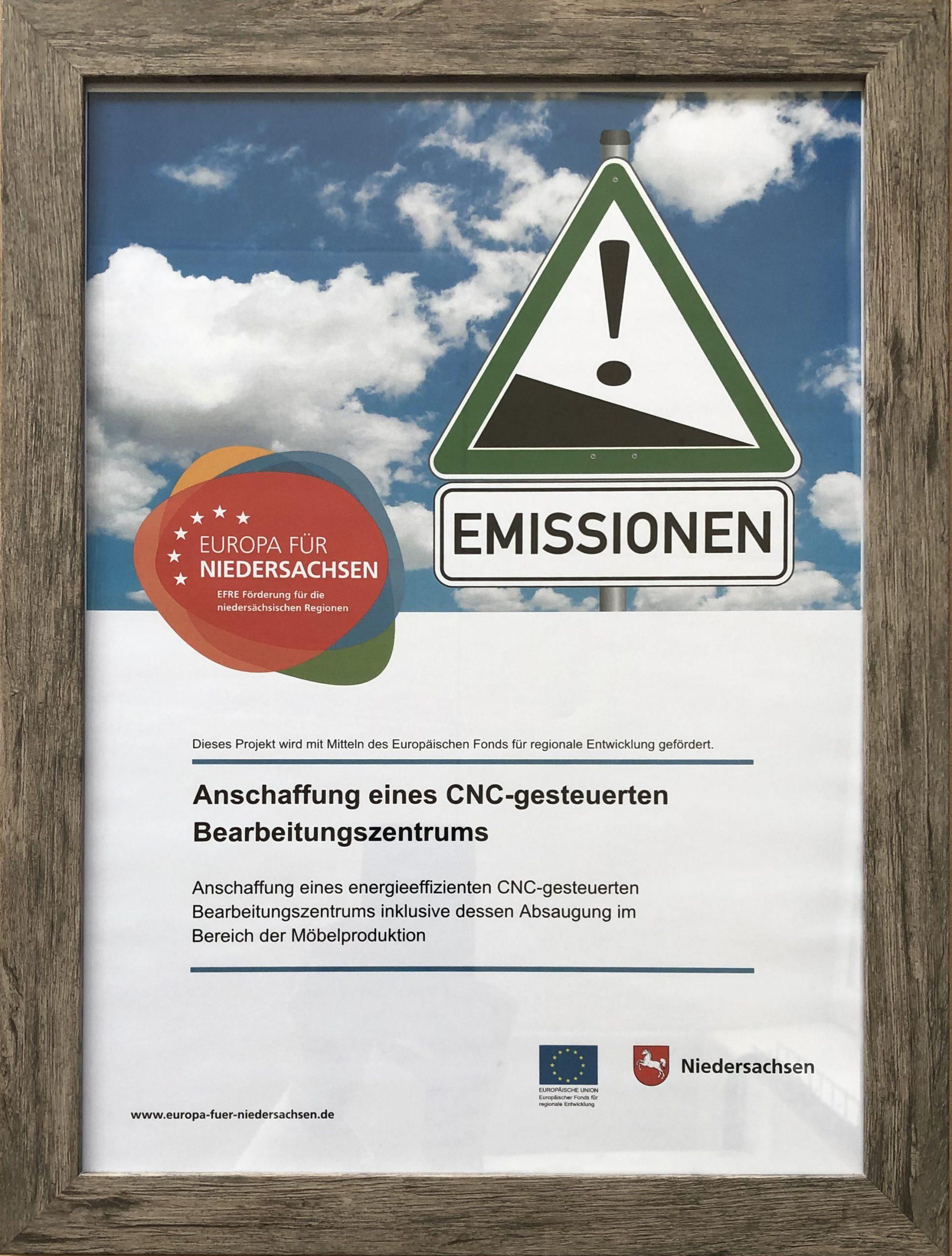 Foerderprojekt 2020 Plakat CNC-gesteuerte Bearbeitungszentrum Tischlerei Peter Bruemmer