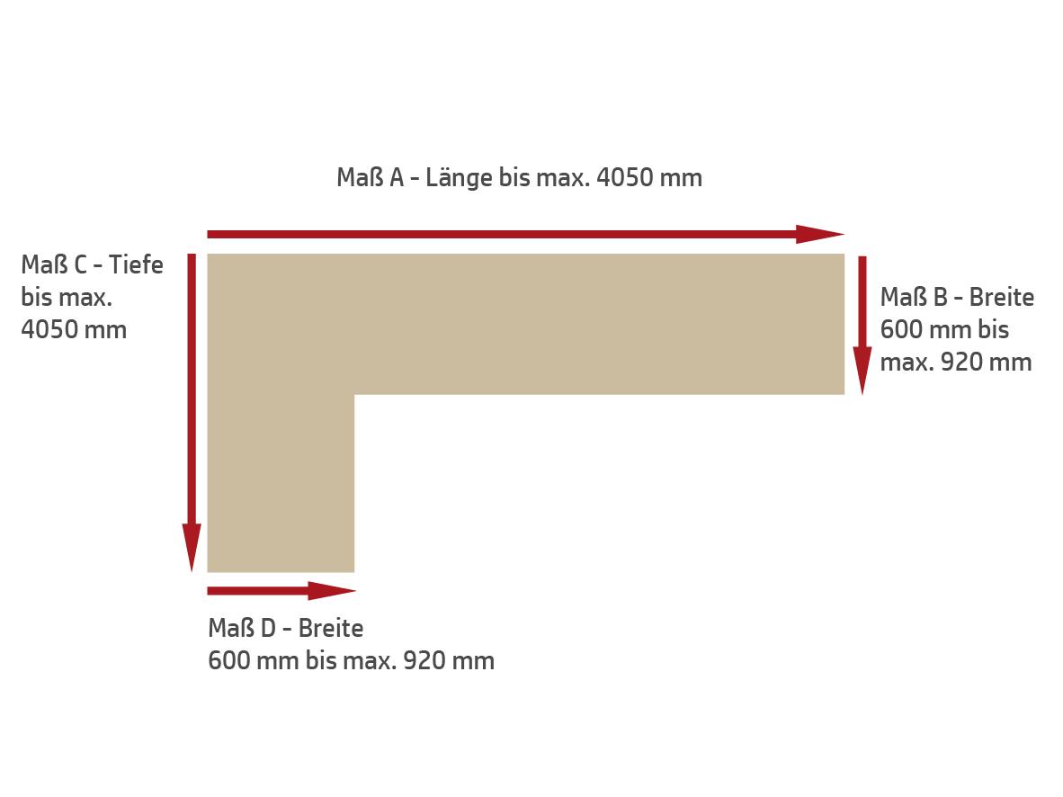tischlerei peter bruemmer zuschnitt skizze arbeitsplatte l-form